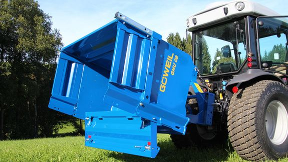 The GHU 08 engineered by Göweil makes it possible to dump material without any effort.