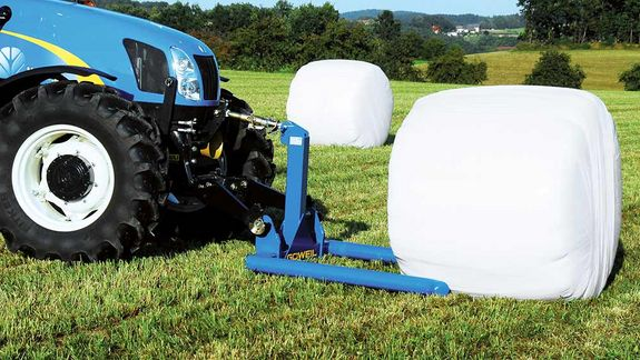 The BTGME provides for an exceedingly gentle transport of previously wrapped bales.