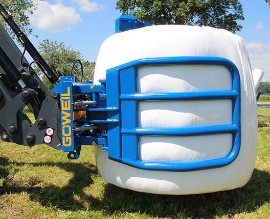 The RBG is also an excellent choice for tipping a bale on its front end.