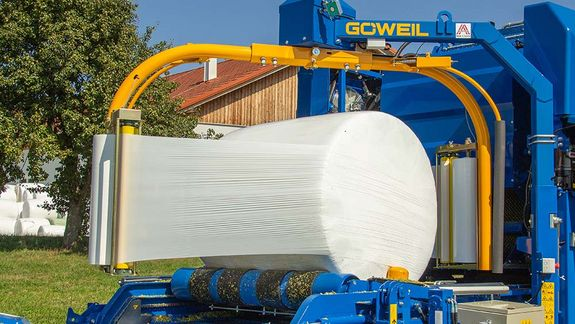 The bale is packaged in a perfectly air-tight manner.